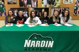 Six Nardin Athletes Sign NLIs