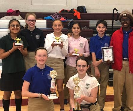 7th Grade Students Place 1st in SJCI Math Contest